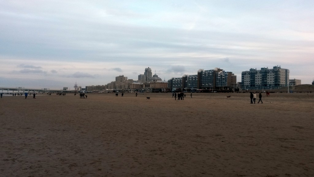 Kurhaus and apartments at the beach in The Hague.
